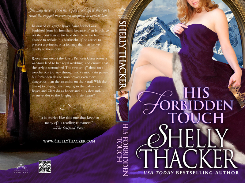 His Forbidden Touch Print Cover by Shelly Thacker